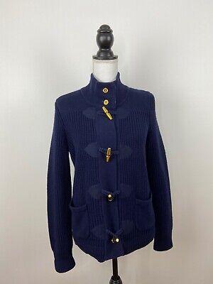 Lauren Ralph Lauren Heavy Knit Jacket L Cardigan Sweater  Gold Buckle - Sz L Heavy Knit Jacket