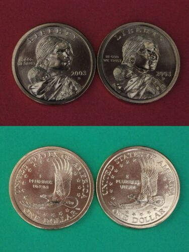 2003 D P Sacagawea Golden Dollars From BU Mint Sets Combined Shipping