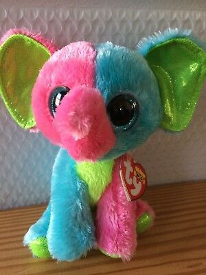 "Ty Beanie Boo Boos Elfie the Elephant 6"" MWMT Justice Exclusive FREE Shipping!!"