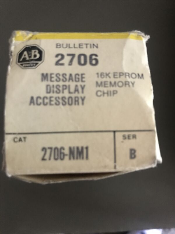 ALLEN BRADLEY 2706-NM1 SERIES B 16K EPROM MEMORY CHIP, NEW SEALED