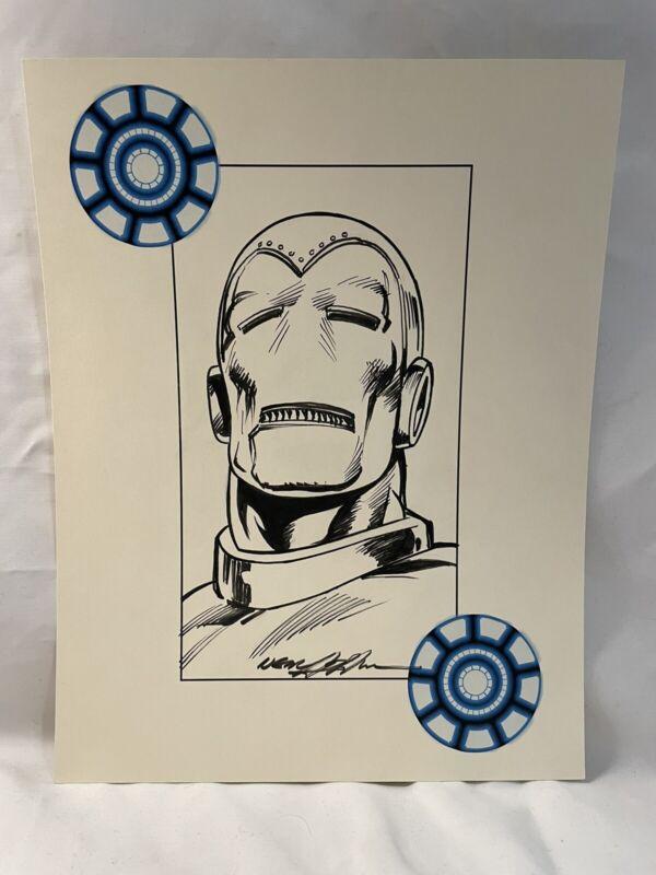 Neal Adams Original Comic Art Sketch (8 1/2 X 11) Avengers - Iron Man