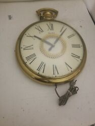 vintage  United Pocket Watch  Wall MOTION Clock 13 Diameter Model 47