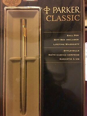 Parker Classic Flighter Stainless Steel & Gold Ballpoint Pen - 1996 - USA