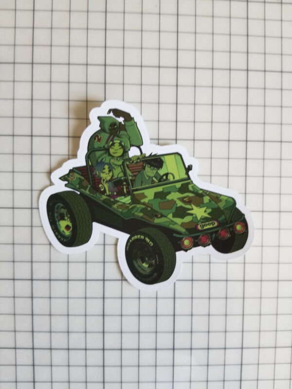 Gorillaz premium sticker - Gorillaz album art