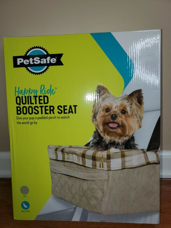PetSafe Happy Ride Quilted Dog Safety Seat - Pet Booster Seat for Cars & Trucks