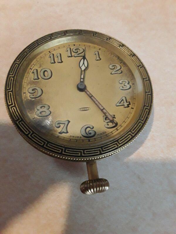 Antique Sandoz Vuille 8 Day 15 Jewel Swiss Made Car Clock Works