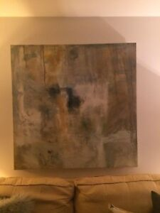 Large Abstract Acrylic Canvas for sale