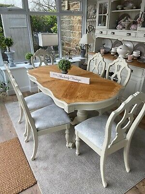 Stunning Extending Dining Table and 6 Chairs~Farrow & Ball~Painted~Shabby Chic