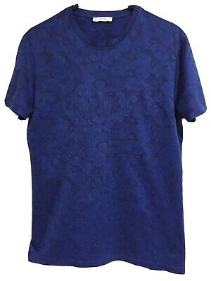 *NEW* VERSACE COLLECTION Sz/XL GENUINE MENS ROYAL BLUE 100% COTTON T SHIRT TOP