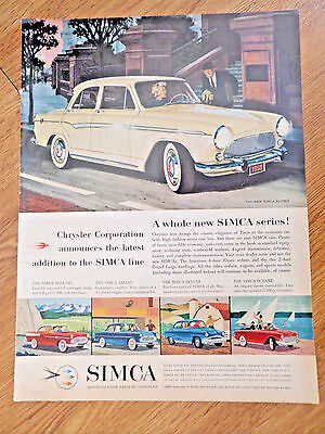 1959 Chrysler Simca Ad  A Whole New Series  New Simca Elysee