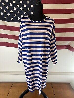 Boohoo Plus Size Womens Scoop Neck Striped T Shirt Dress US Size 20
