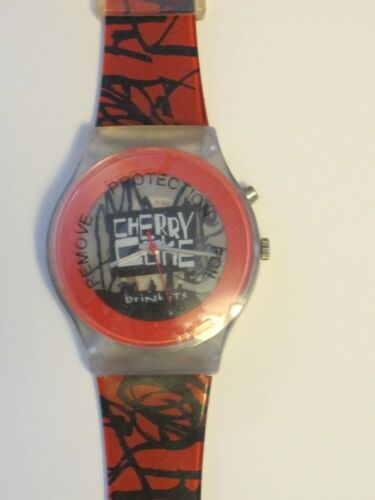 Coca-Cola Cherry Coke Collectors Watch with Lights