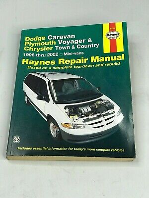 NEW Haynes Dodge Caravan Plymouth Voyager Chrysler Town/Country Mini-vans 96-02 Country Plymouth Voyager Vans