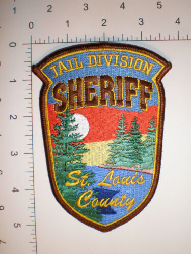 "MN Minnesota ST LOUIS County Sheriff JAIL PRISON police SHIRT 5"" tall patch"