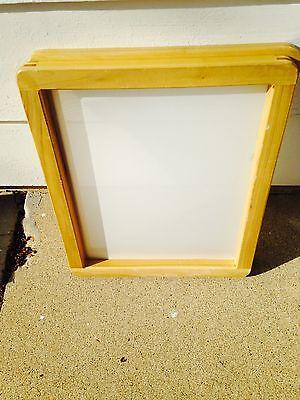 8 Hard Wood Silkscreen Frame With White Multi-filament Fabric 20 X 24 Mesh 155