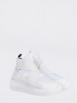 NWD Fessura Hi Twins White Neoprene Beat Shoe Sneakers Size 4.5 (36 EUR)