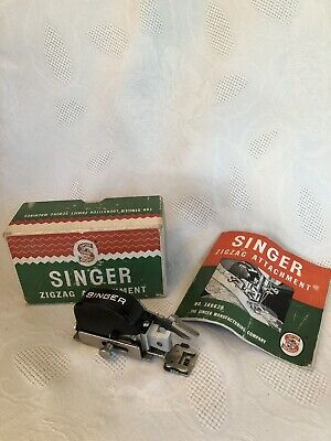 Vintage Singer ZigZag Attachment #160620 Zigzagger with Original Box and Manual