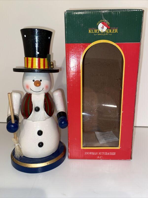 "Kurt Adler Snowman Nutcracker Holiday Christmas 9.5"""