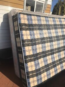 Queen Size Mattress with Wooden Bedhead - pending pick up