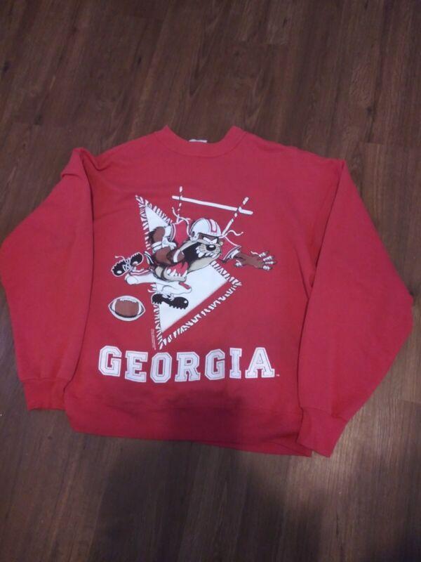 Vtg.  1996 Warner Bros by  Collegewear u.s.a. UGA Size Large sweatshirt