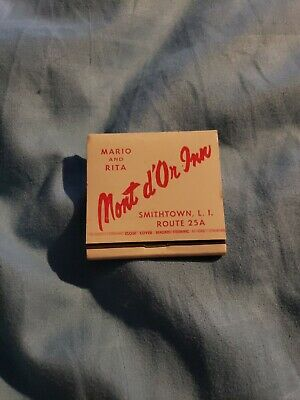 old match book mario and rita mont d'or inn smithtown long island new york 25a