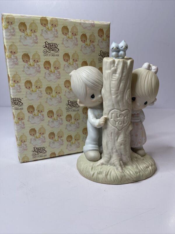 "Precious Moments 1979 Figurine ""Thee I Love"" Jonathan & David"
