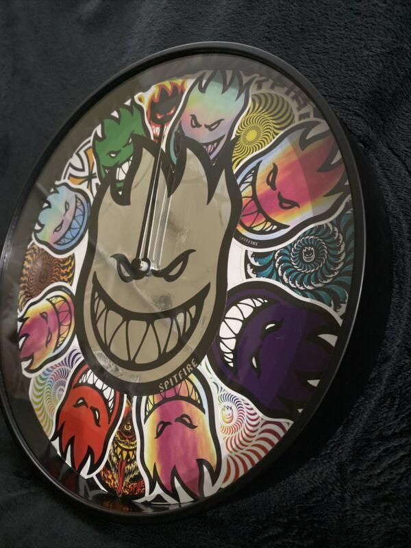 Sticker Bomb Graffiti Skateboard Art Retro Wall Clock Spitfire Wheels