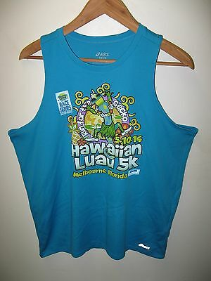 Melbourne Luau Tank Top - Florida Hawaii 5K Run Marathon Day Glo T-Shirt Med