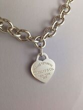 Tiffany & Co heart tag necklace. RRP $785 Paddington Eastern Suburbs Preview