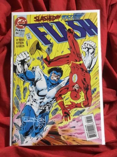 THE FLASH #84~SIGNED BY BARRY KITSON~DC COMICS BOOK~WHITE SIGNATURE