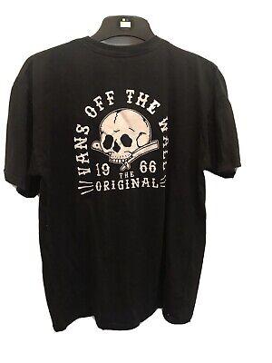 Vans Off The Wall Mens Size M Medium Top T-shirt Black Cotton Short sleeved