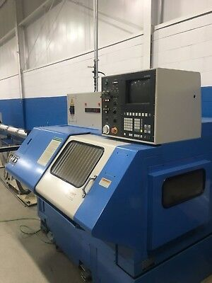 Used Hyundai Hit 8g Gang Tool Cnc Turning Center Lathe Seimens Lns Barfeed 1998