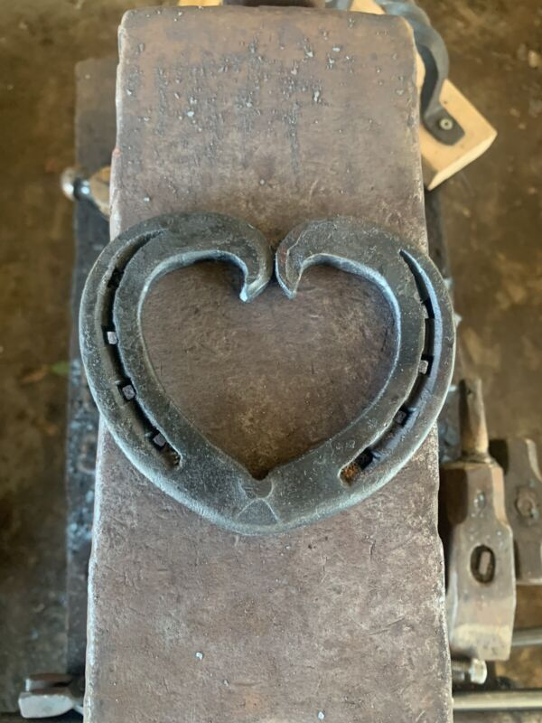 Forged Horseshoe Heart