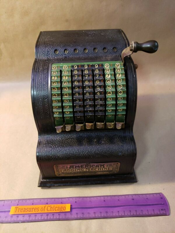 Antique American Adding Machine 1912 1914 Can Company Chicago Model 0 Working