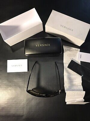 VERSACE BROWN SUNGLASSES MADE IN ITALY DARK HAVANA GLASSES AUTHENTIC W/ RECEIPT