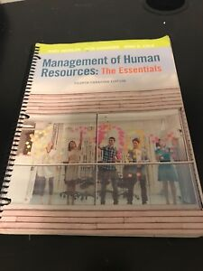 Management of Human Resources; the essentials