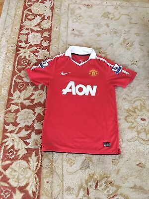 CHICHARITO MEN'S MANCHESTER UNITED 2010/2011 SOCCER FOOTBALL  JERSEY New SIZE S image