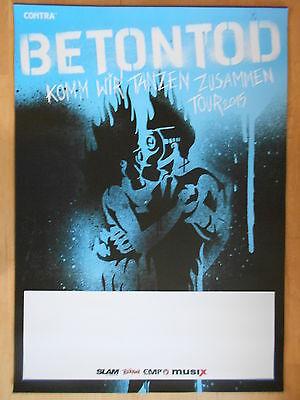 BETONTOD TOUR 2015  -  orig.Concert Poster  --  Konzert Plakat   NEU