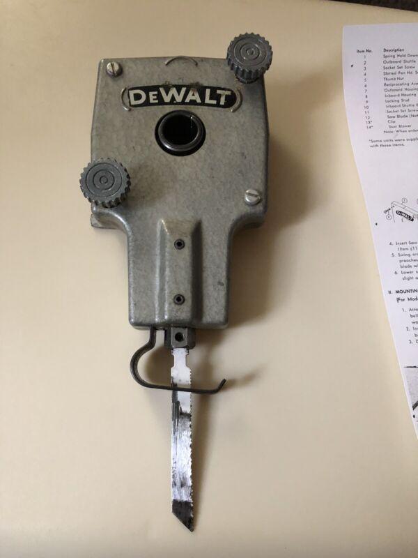 Vintage DeWalt Power Shop Radial Arm Saw Original Sabre Saw Attachment