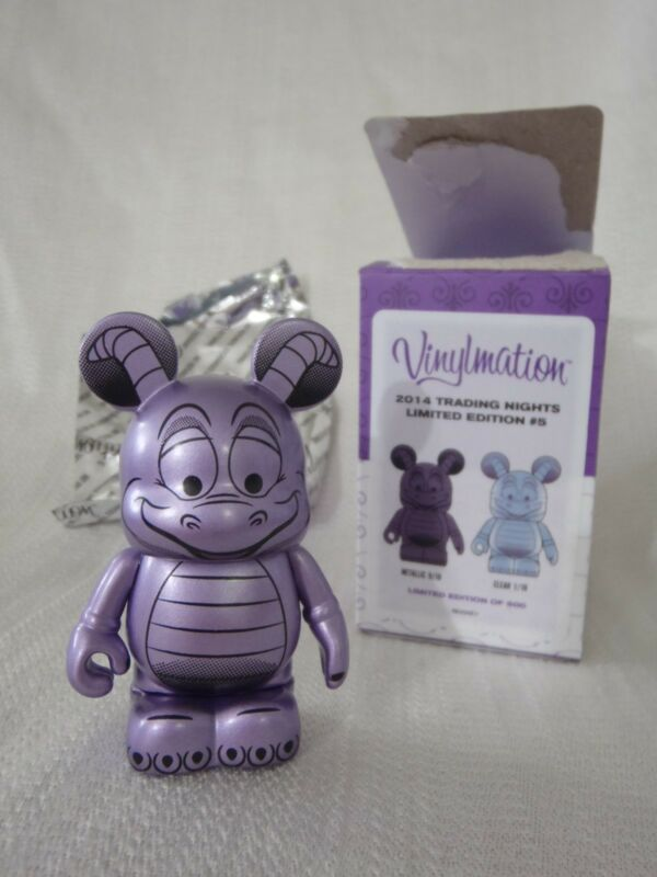 "2014 Disney Vinylmation Imagination Gala Trading Night FIGMENT Purple 3"" Figure"