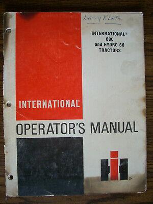 Ih Farmall Mccormick International 686 Hydro 86 Owners Manual