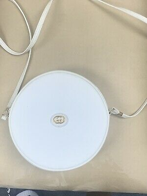 Vintage Gucci GG Circle Bag White Round 8/10 Condition