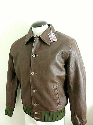 Levis Mens Vintage Clothing Strauss Italian Leather Jacket Brown Size XL NWT