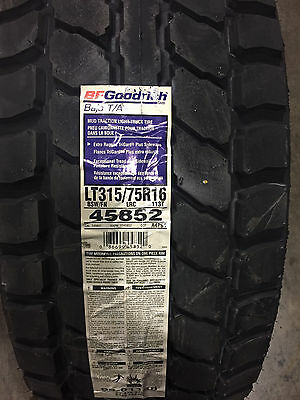 4 New LT 315 75 16 BFGoodrich Baja T/A 6 Ply Off Road Race Tires