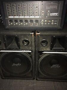 Pa system with speakers