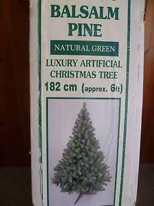 CHRISTMAS TREE WITH DECORATIONS AND LIGHTS New Lambton Heights Newcastle Area Preview