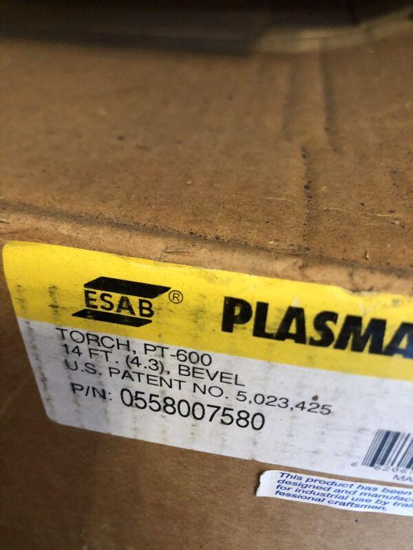 ESAB PLASMA TORCH 14FT PT-600 Bevel Mechanized  0558007580 Replacement Torch