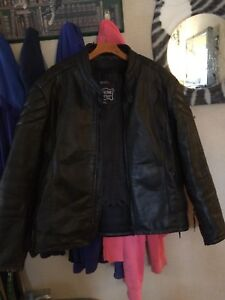 Men's XXl leather bike jacket