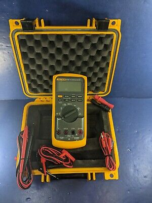Fluke 87v Trms Multimeter Excellent Hard Case Screen Protector Case More