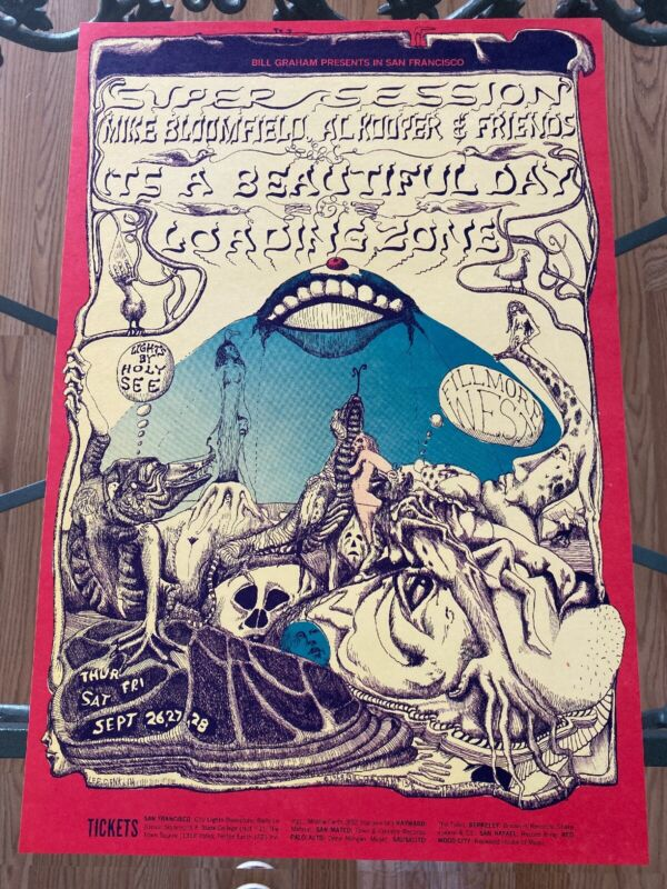 BG 138 Lee Conklin Masterpiece 1968 perfect Condition Concert Poster Fillmore